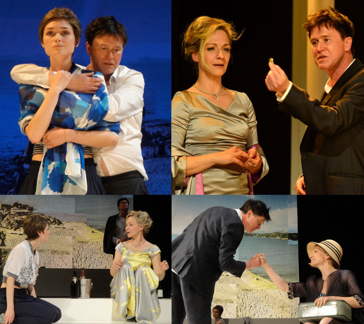 Collage Theaterstück Bonjour Tristesse