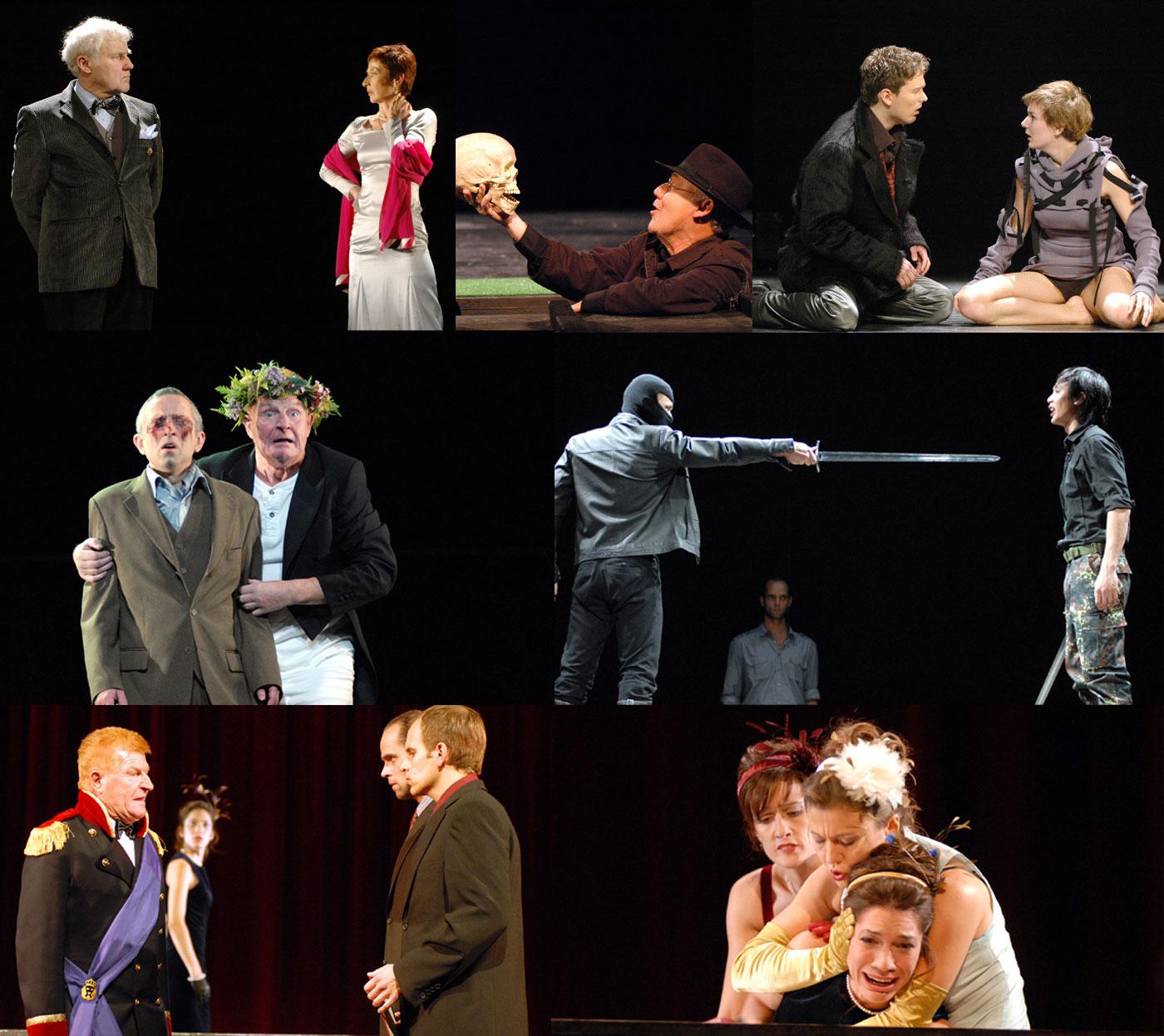 Collage Theaterstücke Hamlet und Lear