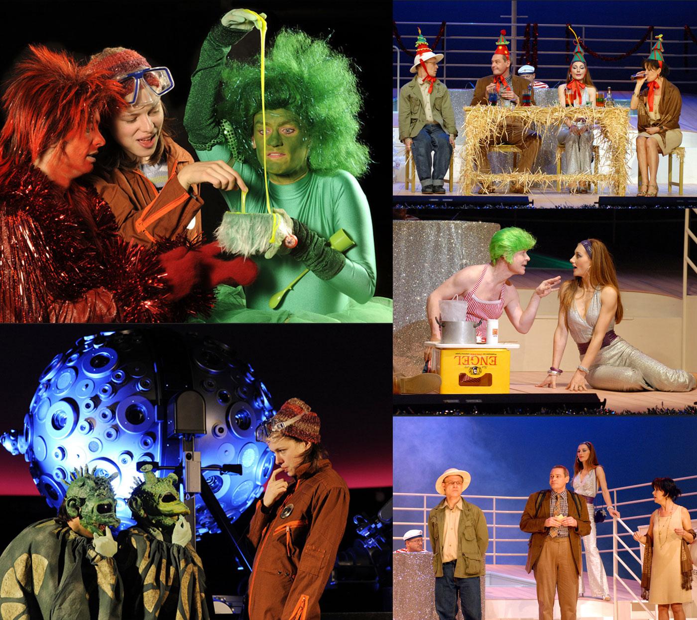 Collage Theaterstücke Hexe Lilly und Grandiose Weihnachten